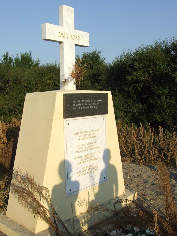 The Molidorf Monument, erected in July 2008<br>Click to enlarge
